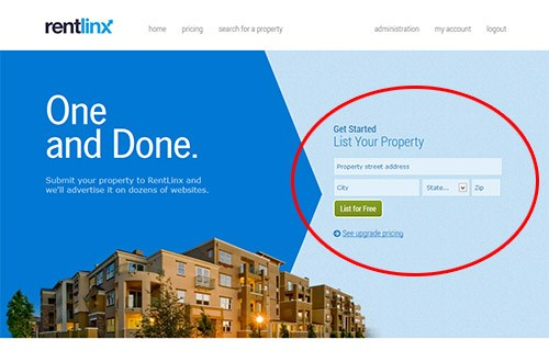 RentLinx Home Page